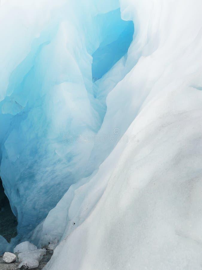 Détail bleu de glace, glacier photo stock
