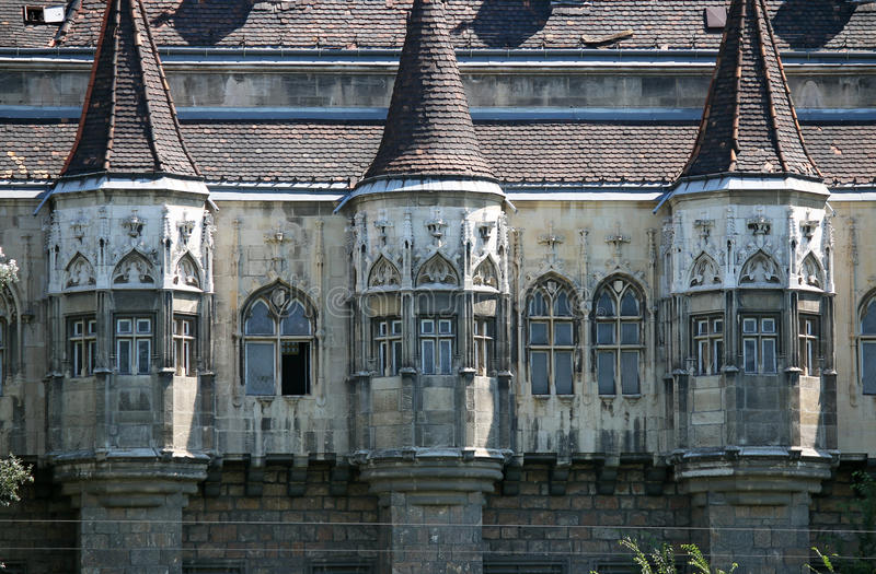 Détail Budapest Hongrie de mur de château photographie stock libre de droits