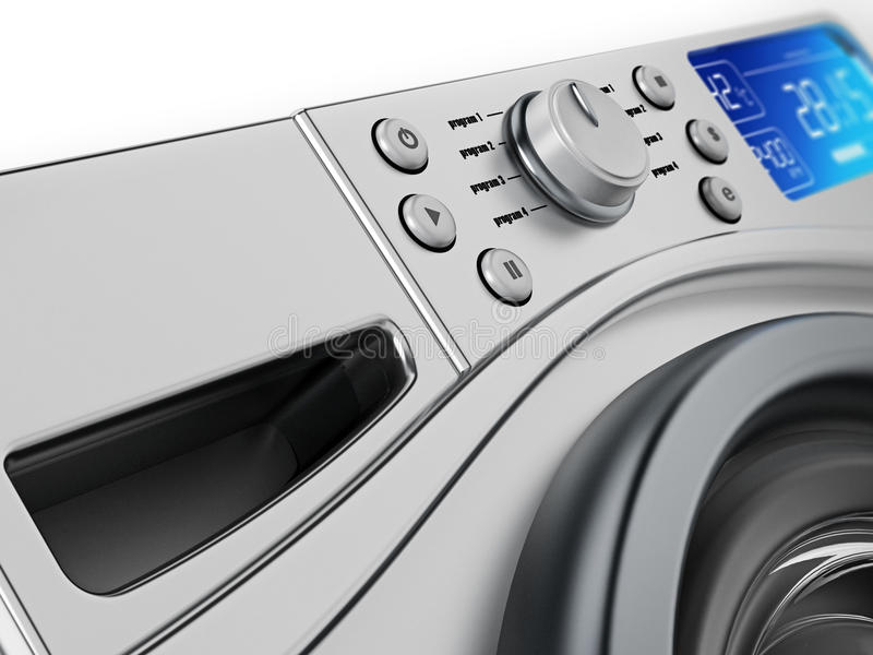 Détail contemporain de conception de machine à laver illustration 3D illustration de vecteur