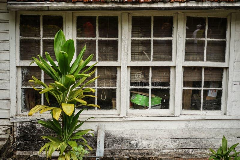 Détail coupé de maison avec la section de fenêtre photographie stock