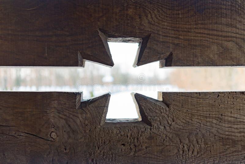 Détail découpé vieux par bois images libres de droits