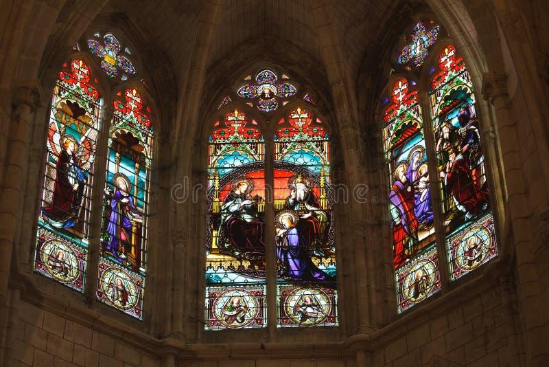 Détail d'église gothique française photo stock
