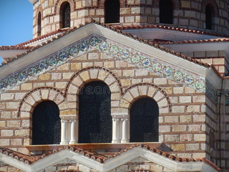 Détail d'église sur Syros, Grèce images libres de droits