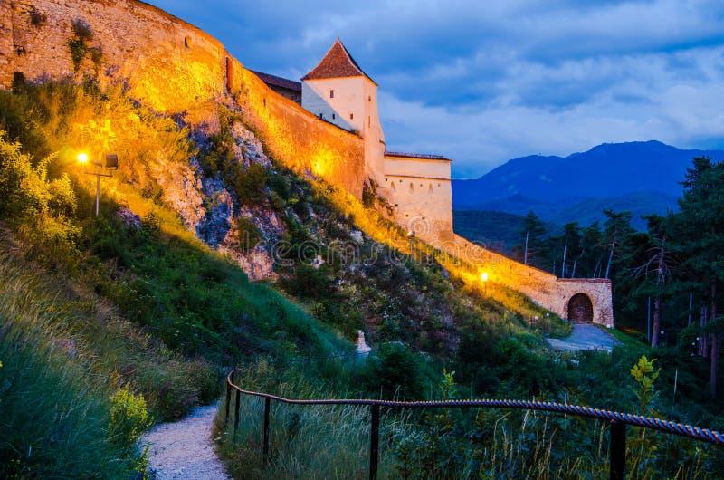 Détail d'Achitectural de forteresse de Rasnov photographie stock libre de droits