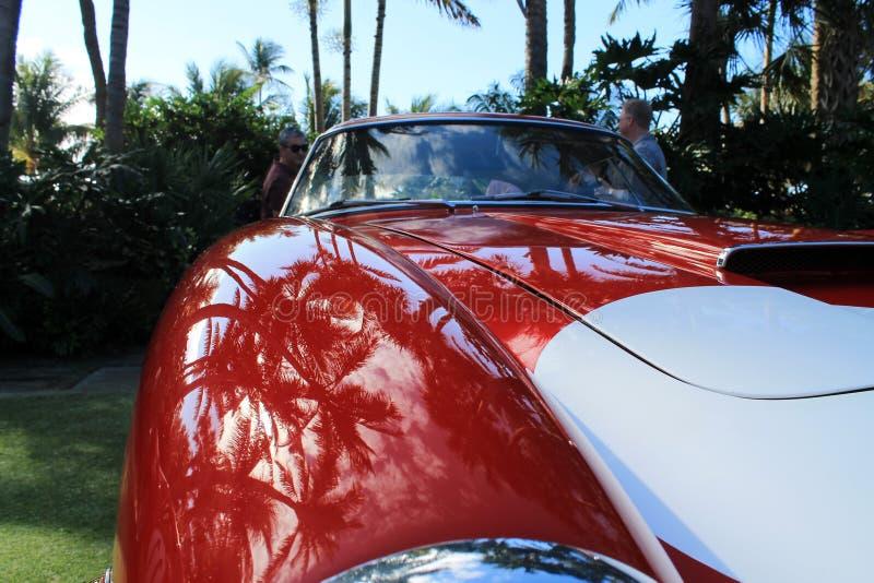 Détail d'amortisseur d'avant de voiture de sport de Ferrari de vintage photographie stock