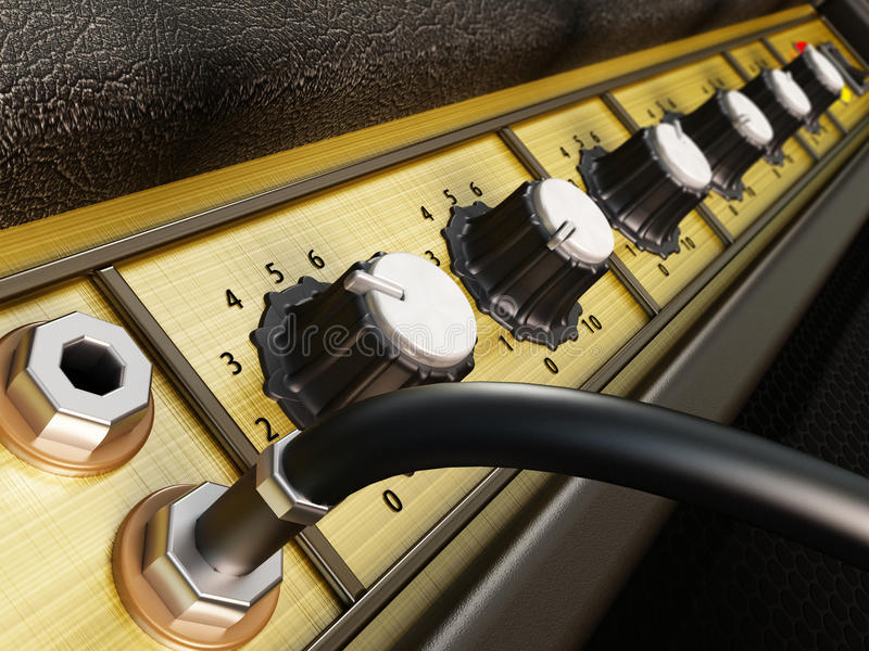 Détail d'amplificateur illustration stock