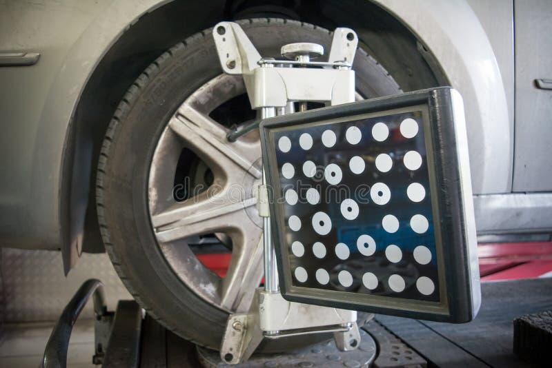 Détail d'appareil-photo de machine d'alignement des roues image libre de droits