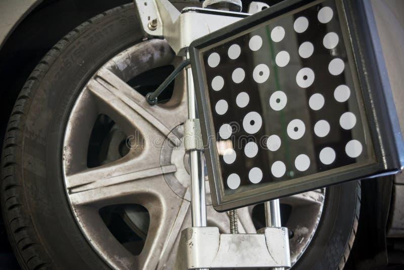 Détail d'appareil-photo de machine d'alignement des roues images stock