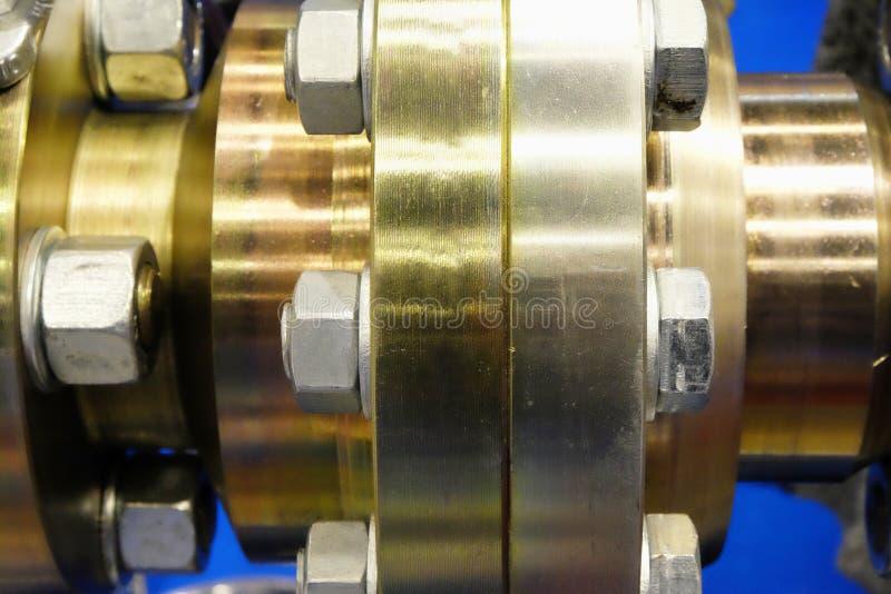 Détail d'approvisionnement en gaz industriel photos stock