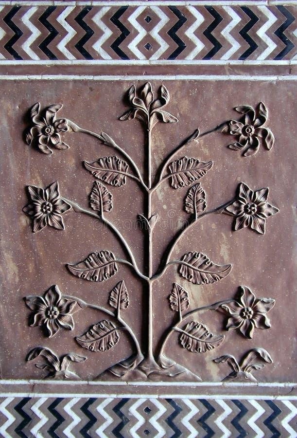 Détail d'arbre de Taj Mahal photographie stock libre de droits