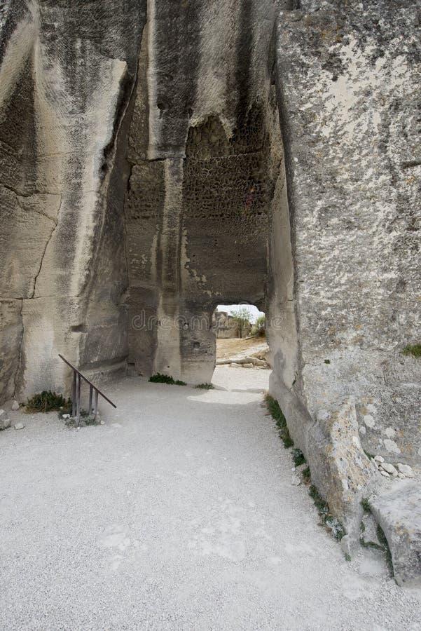 Détail d'architecture de DES Baux de Château photos libres de droits