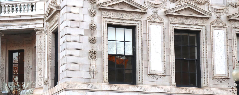 Détail d'architecture fine sur le bâtiment historique images stock