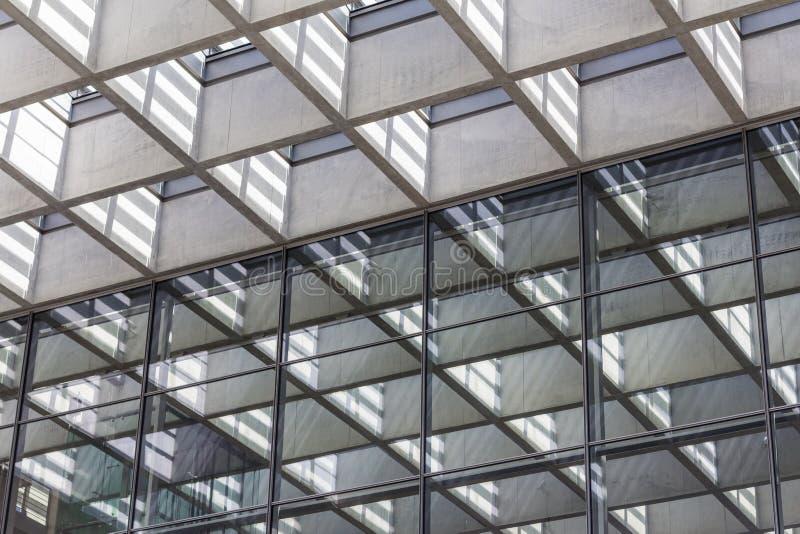 Détail d'architecture, fond abstrait d'immobiliers photographie stock