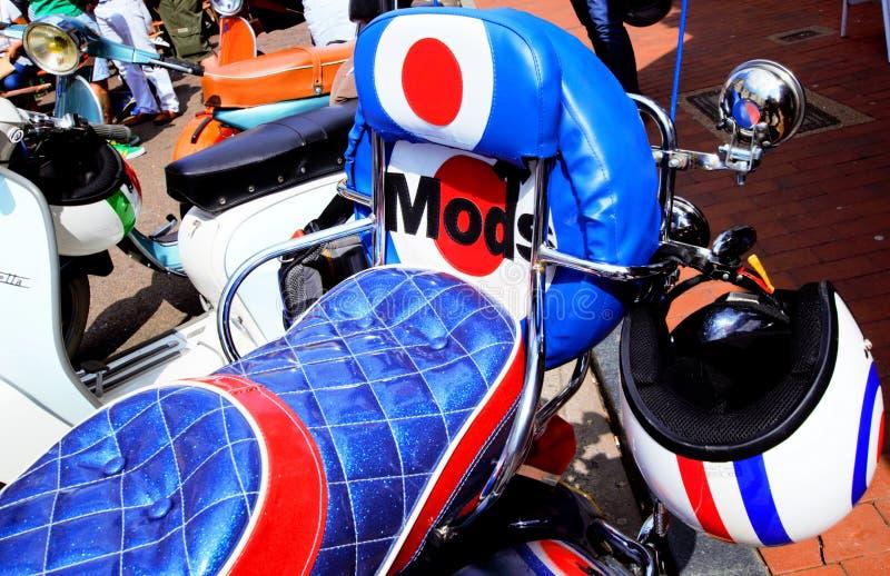 Détail d'arrière de Seat de scooter de culture de mod photo libre de droits