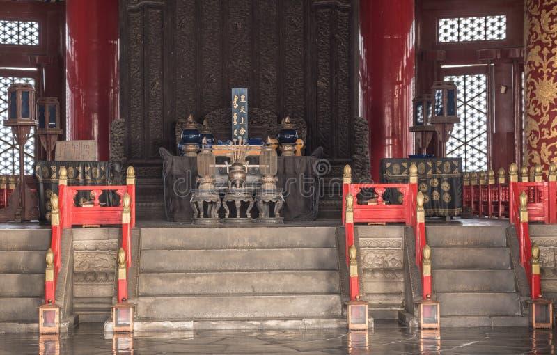 Détail d'intérieur du temple du Ciel dans Pékin Chine photographie stock libre de droits