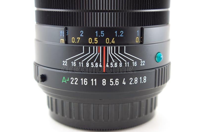 Détail d'objectif de caméra photographie stock libre de droits