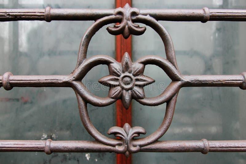 Détail d'ornamental de barre de fer de Wroght photographie stock libre de droits