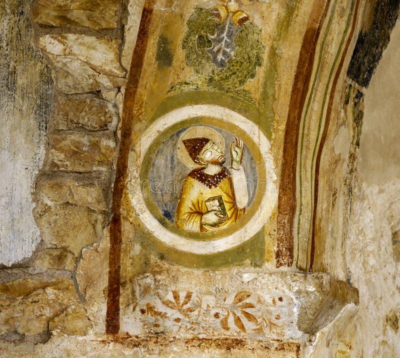 Détail d'un mur frescoed faisant partie photo libre de droits