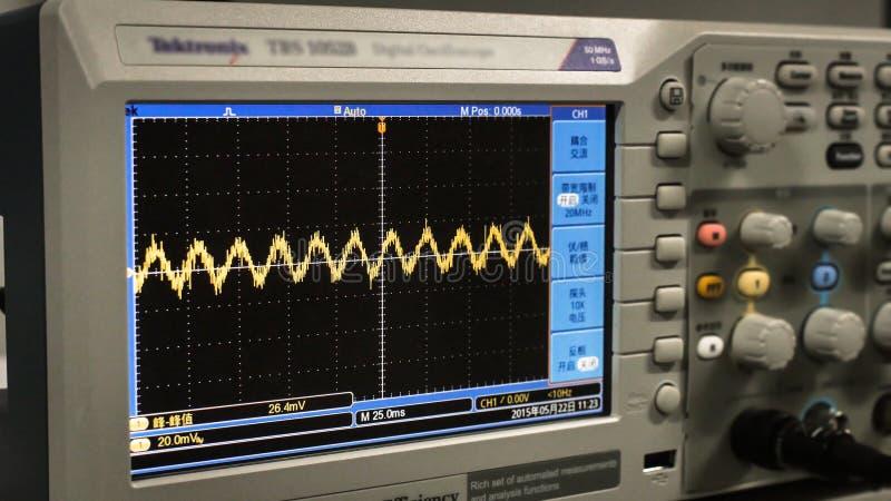 Détail d'un oscilloscope photographie stock libre de droits