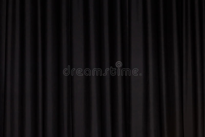 Rideau noir photo stock