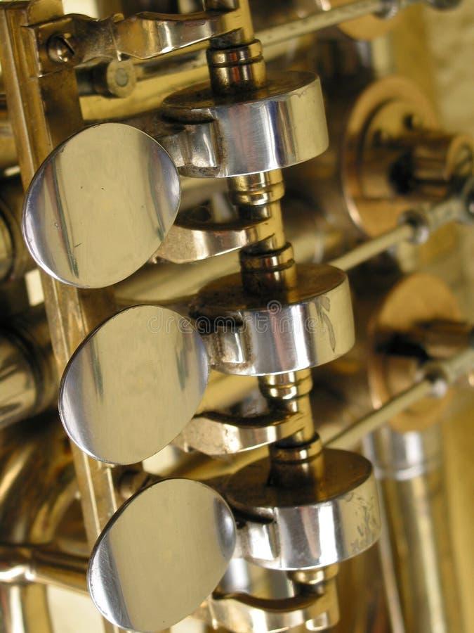 Détail d'un tuba photo libre de droits