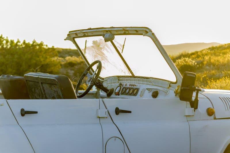 Détail d'un véhicule tous terrains en Sardaigne du nord Italie photo libre de droits