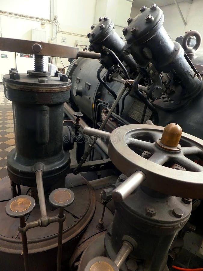 Détail d'un vieux générateur de turbo images libres de droits