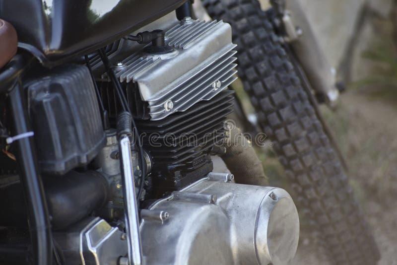 Détail d'un vieux moteur d'essence image libre de droits