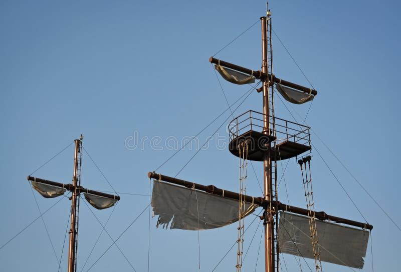 Détail d'un voilier de pirate image stock