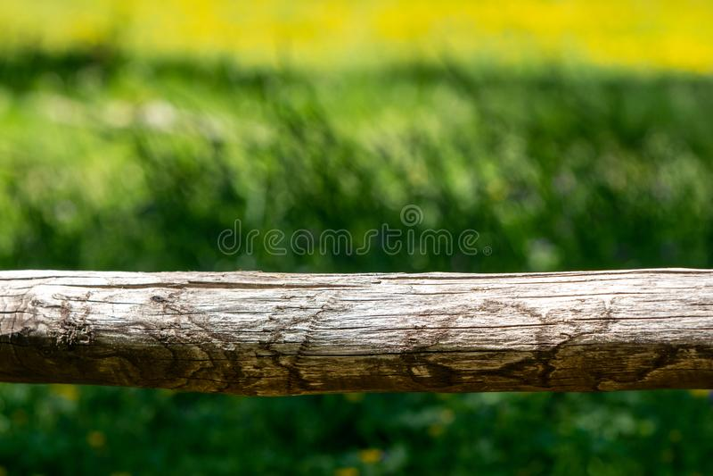 Détail d'une barrière de montagne photo stock