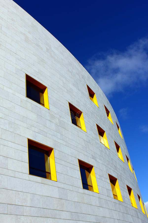 Détail d'une construction moderne à Lisbonne photo libre de droits