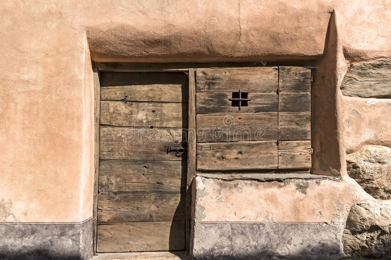 Détail d'une maison traditionnelle images stock