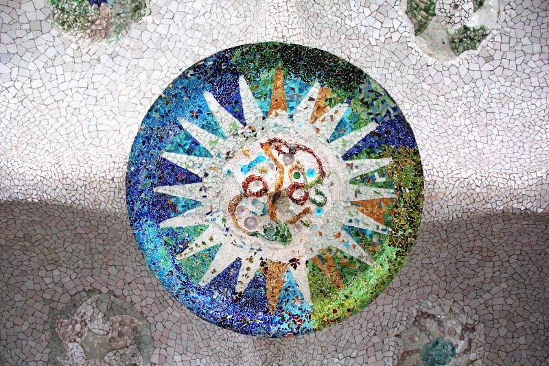 Mosaïque de Parc Guell image stock