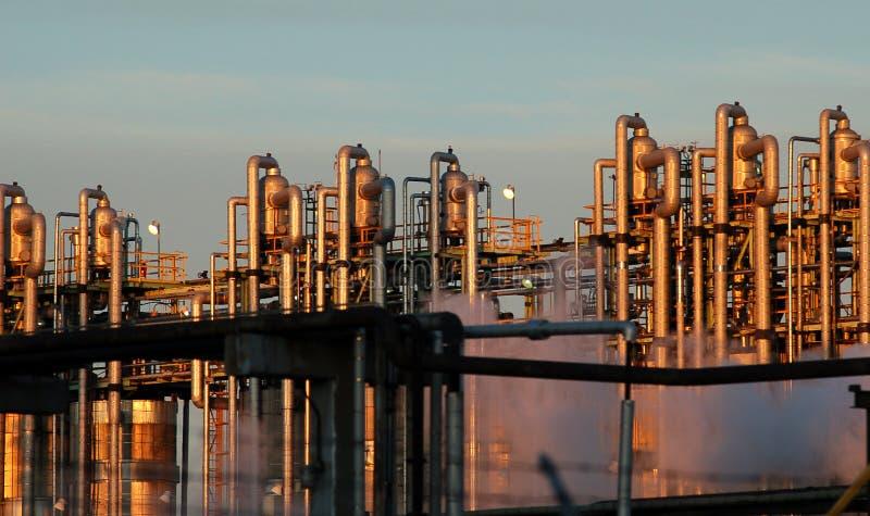 Détail d'une raffinerie 11 photo libre de droits