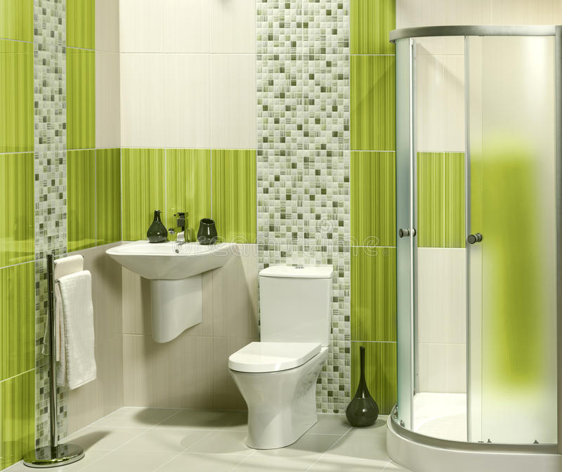 Détail d'une salle de bains moderne photographie stock