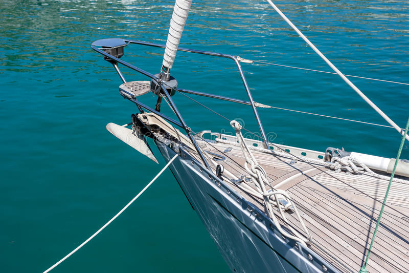 Détail de bateau à voile ou de yacht photo stock