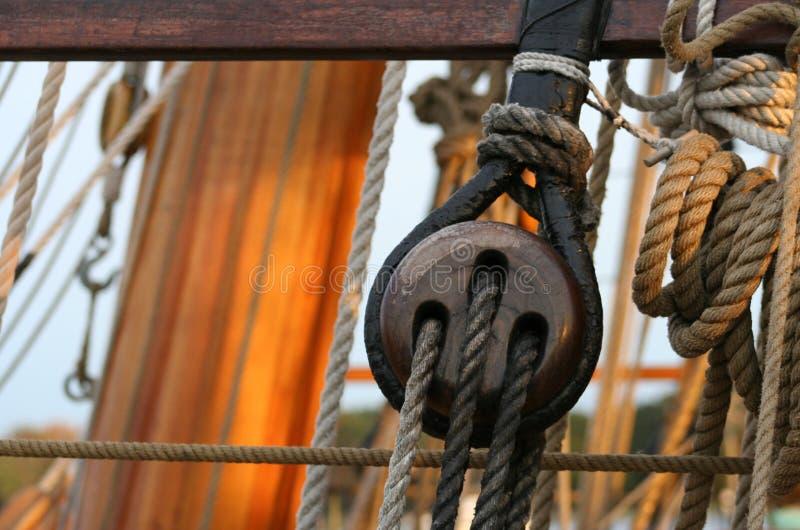 Détail de bateau grand images stock