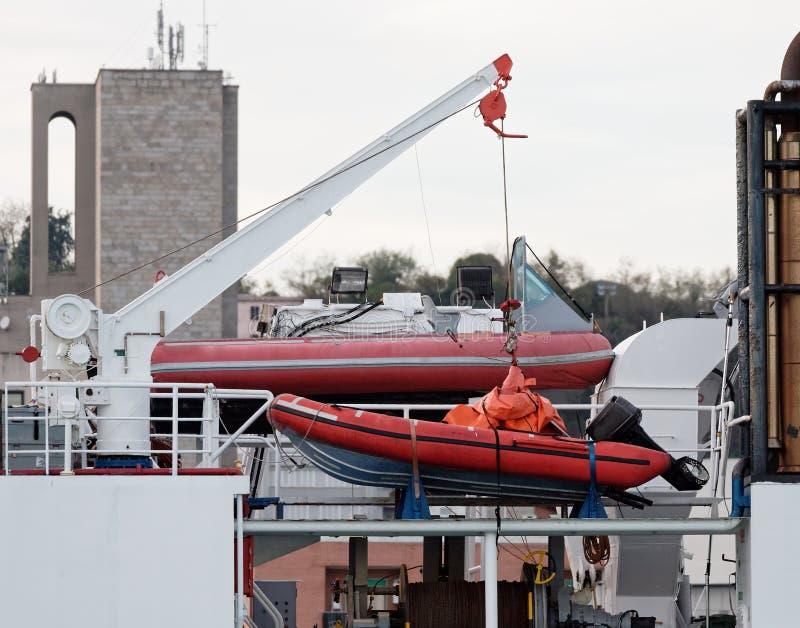 détail de bateau de sauvetage rapide photos stock