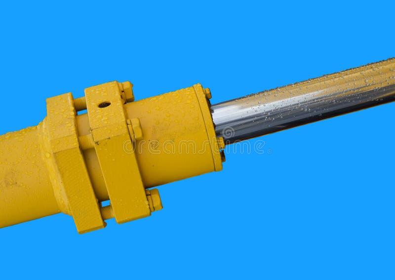 Détail de bras hydraulique d'excavatrice de piston de bouteur image libre de droits