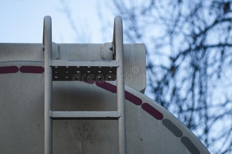 Détail de camion-citerne aspirateur de carburant image libre de droits