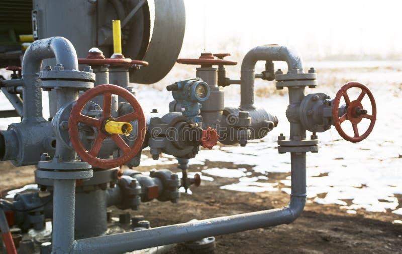 Détail de canalisation d'industrie chimique photographie stock libre de droits