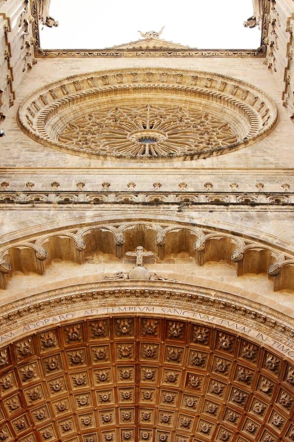 Détail de cathédrale de Majorque dans Palma photos stock