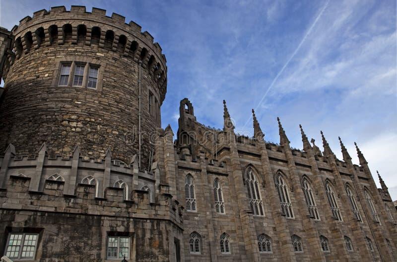 Détail de château de Dublin image libre de droits