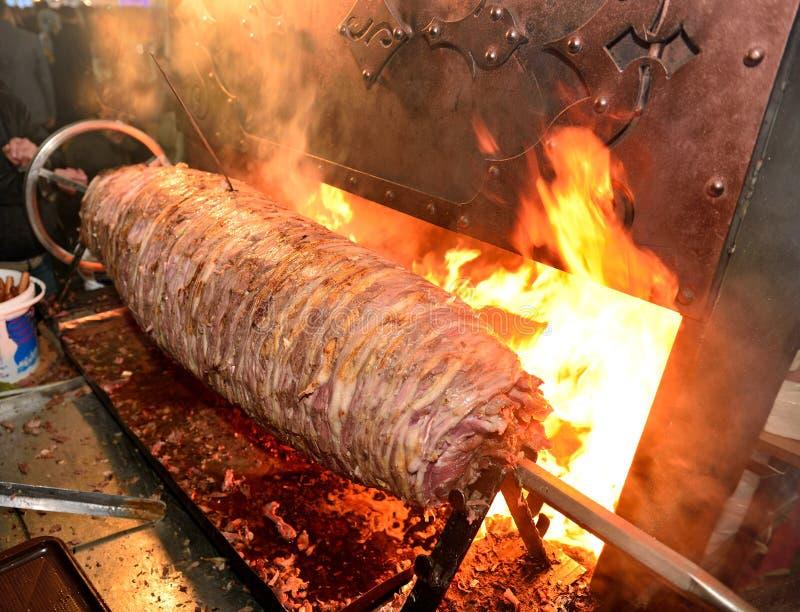 Détail de chiche-kebab de Cag à la région d'Erzurum, Turquie images libres de droits