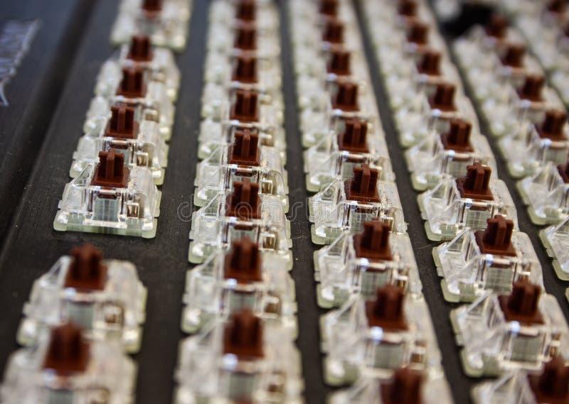 Détail de clavier noir démantelé photographie stock