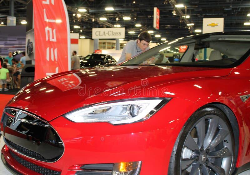 Détail de coin de Tesla photos libres de droits