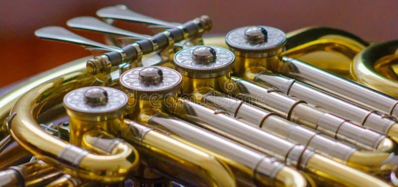 Détail de cor d'harmonie photo stock