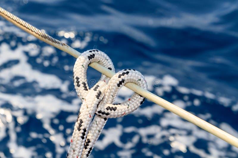 Détail de corde de voilier photos stock