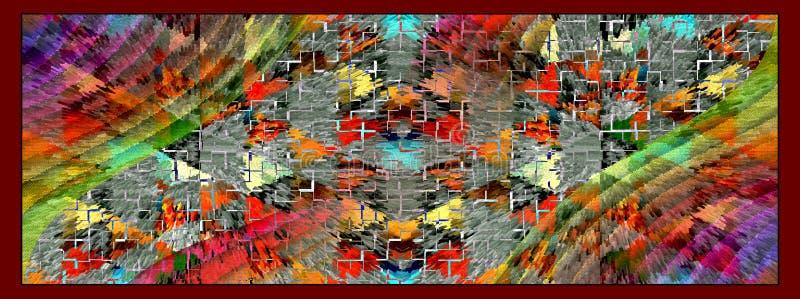 D?tail de couleur d'impression illustration stock