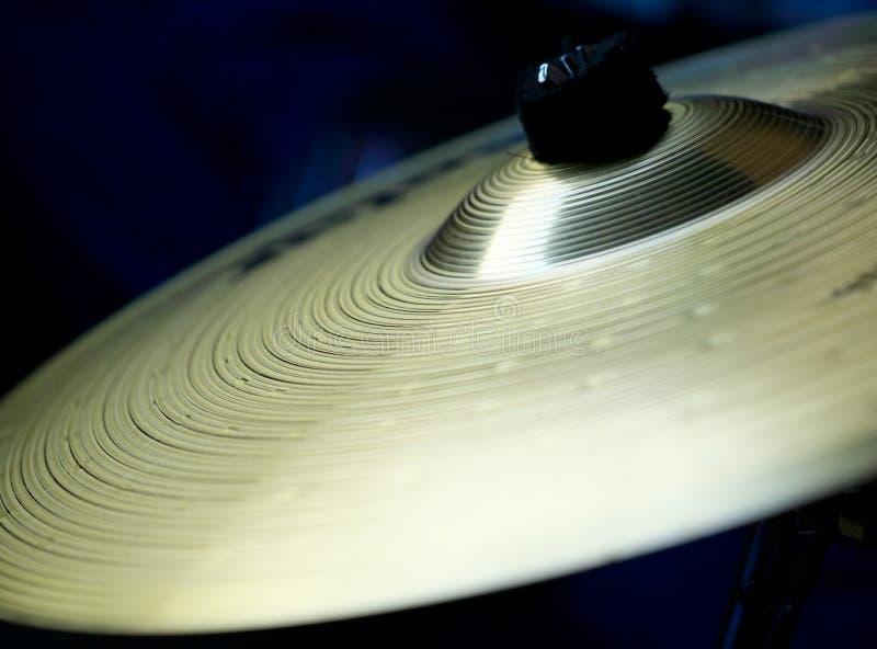 Détail de cymbales photo stock